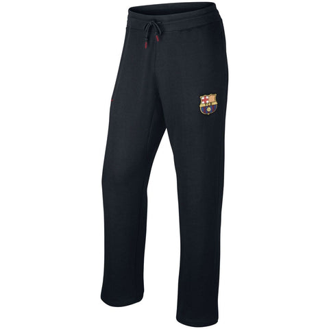 NIKE FC BARCELONA AUTHENTIC OPEN HEM PANTS Black.