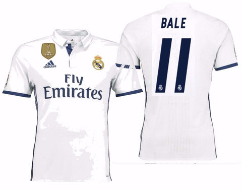ADIDAS GARETH BALE REAL MADRID AUTHENTIC ADIZERO HOME MATCH JERSEY 2016/17 FIFA.