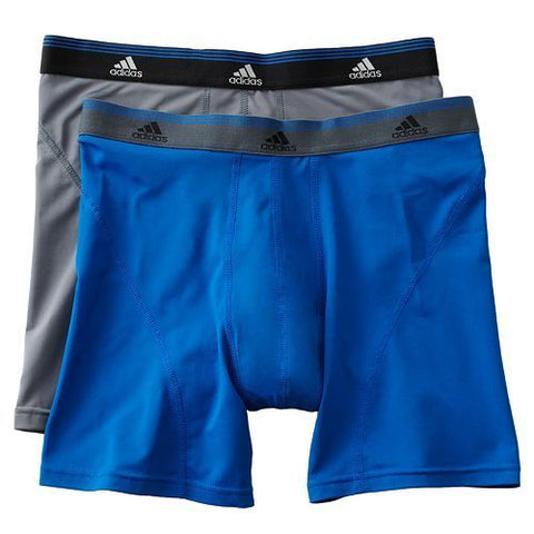 ADIDAS SPORT PERFORMANCE UNDERWEAR BOXER BRIEF Climalite Blue/Grey.