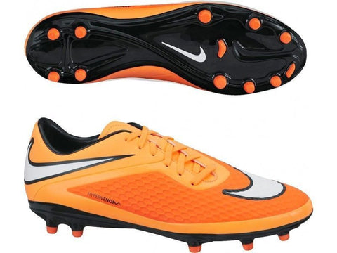 NIKE HYPERVENOM PHELON FG FIRM GROUND SOCCER SHOES Hyper Crimson/Atomic Orange