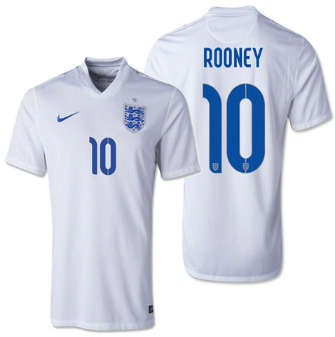 NIKE WAYNE ROONEY ENGLAND HOME JERSEY FIFA WORLD CUP BRAZIL 2014