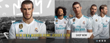 ADIDAS REAL MADRID LONG SLEEVE HOME JERSEY 2017/18 FIFA PATCH.