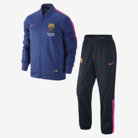NIKE FC BARCELONA SQUAD SIDELINE KNIT WARM UP TRACKSUIT Loyal Blue/Hyper Pink