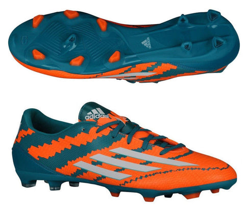 ADIDAS MESSI F10.3 FG FIRM GROUND SOCCER SHOES Power Teal/Core White/Solar