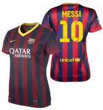 NIKE LIONEL MESSI FC BARCELONA WOMEN'S HOME JERSEY 2013/14.