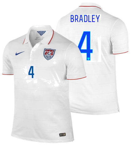 029a6cc93 NIKE MICHAEL BRADLEY USA AUTHENTIC HOME JERSEY FIFA WORLD CUP BRAZIL 2014  US SOCCER TEAM