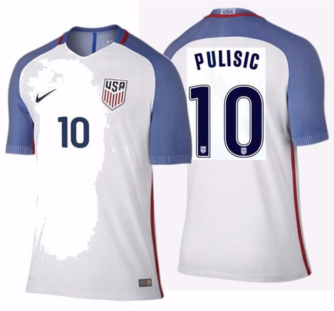 NIKE CHRISTIAN PULISIC USA VAPOR MATCH AUTHENTIC HOME JERSEY 2016/17.