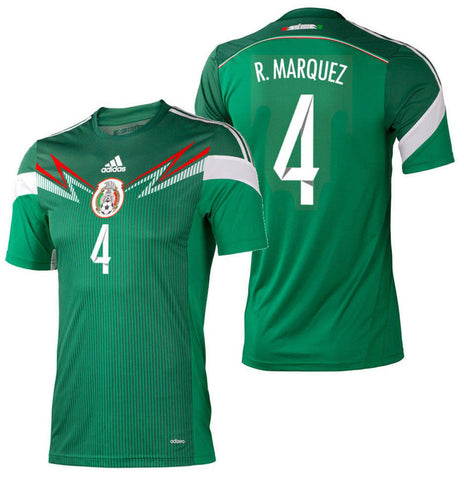 ADIDAS RAFAEL MARQUEZ MEXICO AUTHENTIC ADIZERO HOME JERSEY WORLD CUP 2014.