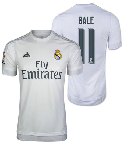 ADIDAS GARETH BALE REAL MADRID HOME JERSEY 2015/16