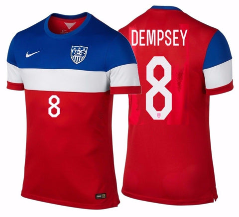 NIKE CLINT DEMPSEY USA AUTHENTIC AWAY MATCH JERSEY FIFA WORLD CUP BRAZIL 2014.