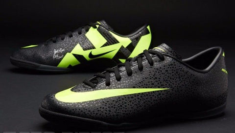 f339e9c7e NIKE CRISTIANO RONALDO MERCURIAL VICTORY II CR IC INDOOR SOCCER CR7 SHOE  Black.