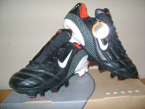 NIKE MIA HAMM AIR ZOOM M9 FG FIRM GROUND SOCCER SHOES WOMEN'S Black/White.