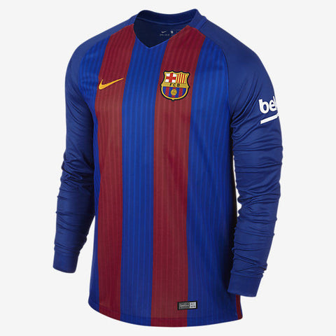 NIKE FC BARCELONA LONG SLEEVE HOME JERSEY 2016/17.