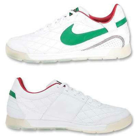NIKE PELADA MEXICO RONALDINHO R10 INDOOR SOCCER SHOES White/Green.