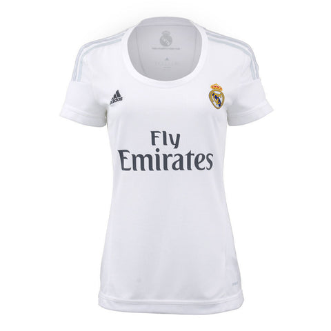 hot sale online 934a0 42b50 ADIDAS CRISTIANO RONALDO REAL MADRID WOMEN'S HOME JERSEY 2015/16