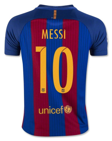 separation shoes 70543 a6352 NIKE LIONEL MESSI FC BARCELONA HOME YOUTH JERSEY 2016/17