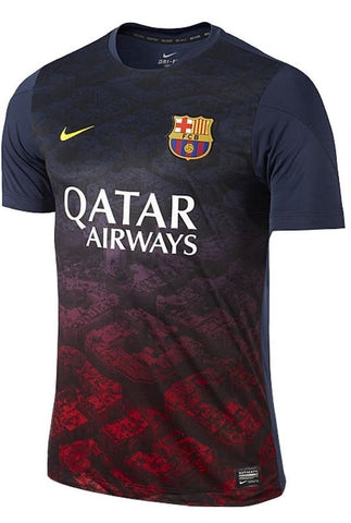 NIKE FC BARCELONA SQUAD PRE MATCH TOP Navy/Yellow