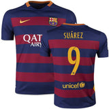 NIKE LUIS SUAREZ FC BARCELONA HOME YOUTH JERSEY 2015/16