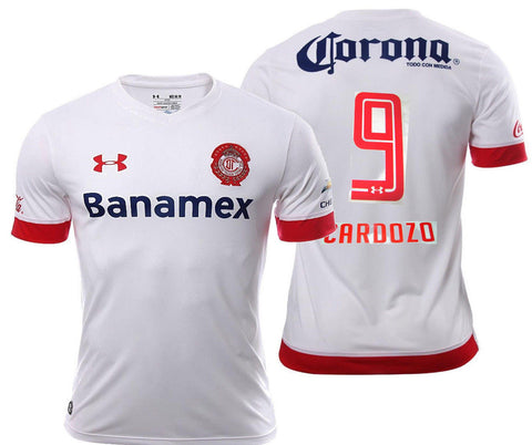 UA UNDER ARMOUR JOSE S. CARDOZO CLUB DEPORTIVO TOLUCA AWAY JERSEY 2015/16