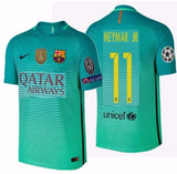 NIKE NEYMAR JR FC BARCELONA AUTHENTIC VAPOR MATCH UEFA CHAMPIONS LEAGUE THIRD JERSEY 2016/17 QATAR