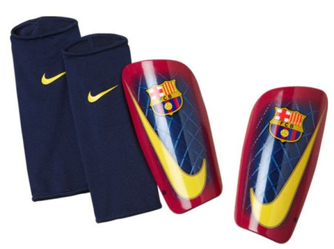 NIKE FC BARCELONA MERCURIAL LITE SHINGUARD FOOTBALL SOCCER Blue/Red.