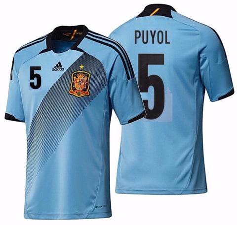 ADIDAS CARLES PUYOL SPAIN AWAY JERSEY 2012/13.