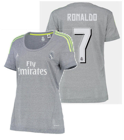ADIDAS CRISTIANO RONALDO REAL MADRID WOMEN'S AWAY JERSEY 2015/16