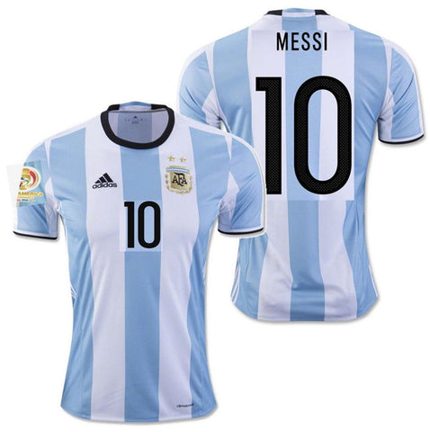 ADIDAS LIONEL MESSI ARGENTINA HOME JERSEY COPA AMERICA 2016 PATCH.