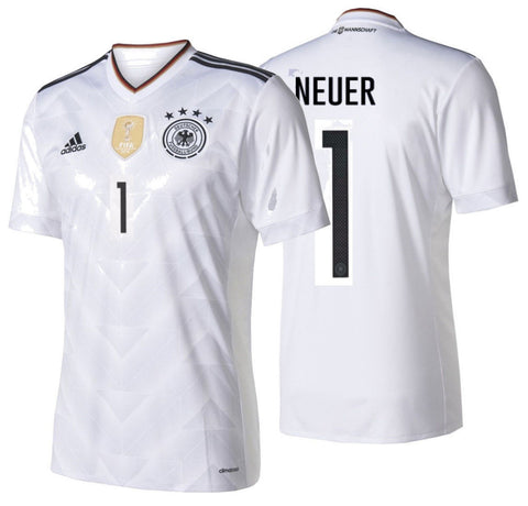 ADIDAS MANUEL NEUER GERMANY HOME JERSEY FIFA CONFEDERATIONS CUP 2017 White/Black