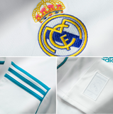 ADIDAS CRISTIANO RONALDO REAL MADRID LONG SLEEVE HOME JERSEY 2017/18 FIFA PATCH 7
