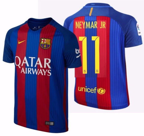 NIKE NEYMAR JR. FC BARCELONA HOME YOUTH JERSEY 2016/17 QATAR.