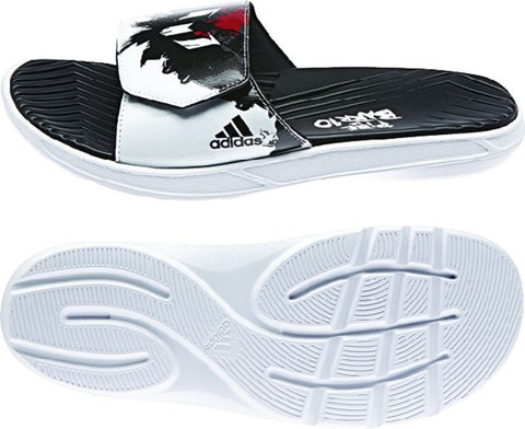 ADIDAS MESSI SLIDE SANDALS Core Black / Scarlet / White
