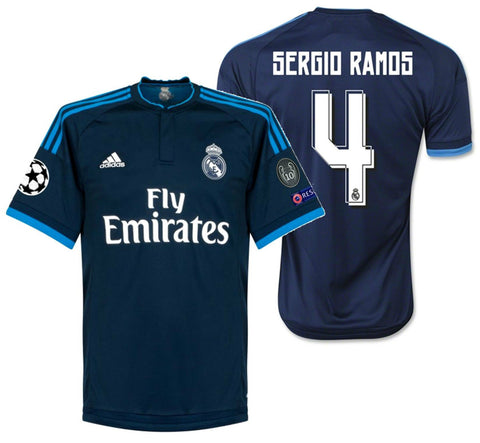 Adidas Sergio Ramos Real Madrid UEFA Champions League Third Jersey 2015/16 S12676