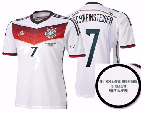 ADIDAS BASTIAN SCHWEINSTEIGER GERMANY AUTHENTIC FINAL GAME JERSEY WORLD CUP 2014