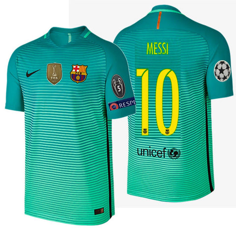 NIKE LIONEL MESSI FC BARCELONA AUTHENTIC VAPOR MATCH UCL THIRD JERSEY 2016/17.