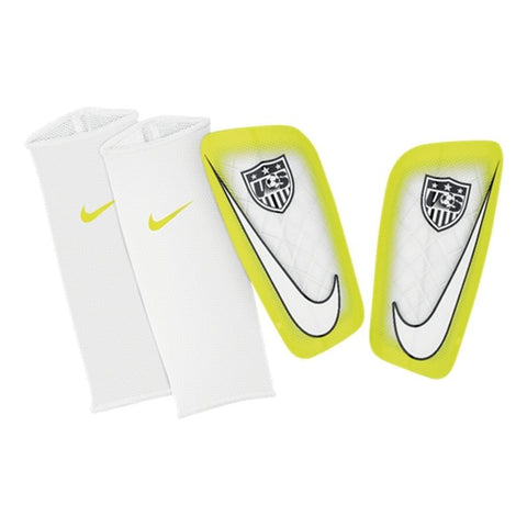 NIKE USA TEAM MERCURIAL LITE SHINGUARD FOOTBALL SOCCER White/Volt.