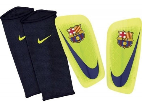 NIKE FC BARCELONA MERCURIAL LITE SHINGUARD FOOTBALL SOCCER Volt/Navy.
