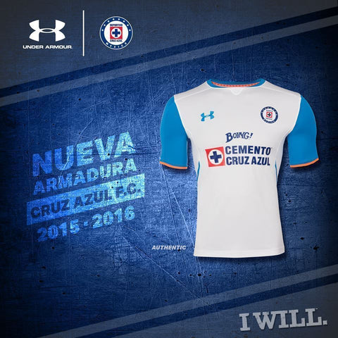 abf22b85 UA UNDER ARMOUR CRUZ AZUL AWAY JERSEY 2015/16. – REALFOOTBALLUSA.NET