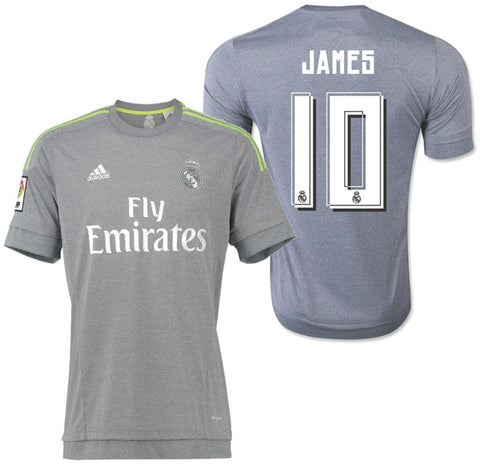 996eff167 ADIDAS JAMES RODRIGUEZ REAL MADRID AWAY JERSEY 2015 16 ...