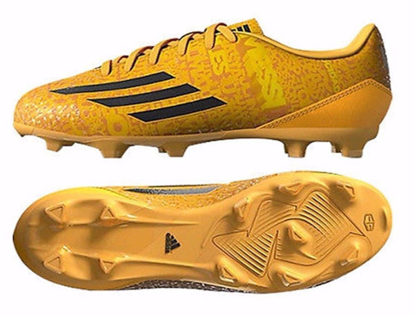 ADIDAS MESSI F10 TRX FG JUNIOR FIRM GROUND YOUTH SOCCER SHOES BOYS Solar GoldBlack