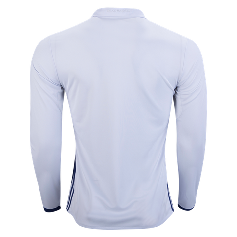 new product 41a00 c5605 ADIDAS REAL MADRID LONG SLEEVE HOME JERSEY 2016/17 FIFA PATCH.