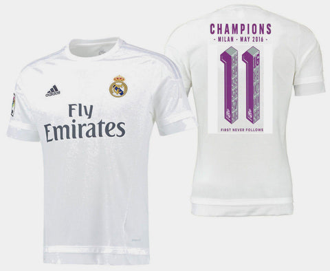 ADIDAS REAL MADRID CHAMPIONS LEAGUE UNDECIMA HOME JERSEY 2015/16.
