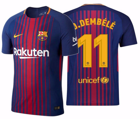 NIKE OUSMANE DEMBELE FC BARCELONA AUTHENTIC VAPOR MATCH HOME JERSEY 2017/18.