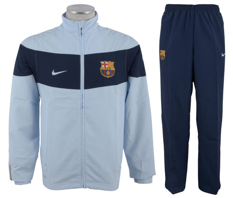 NIKE FC BARCELONA WOVEN STATEMENT WARM UP TRACKSUIT.