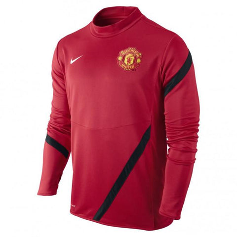 NIKE MANCHESTER UNITED MIDLAYER TRAINING TOP Red/Black 0