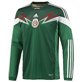 ADIDAS MEXICO LONG SLEEVE HOME JERSEY FIFA WORLD CUP 2014 1