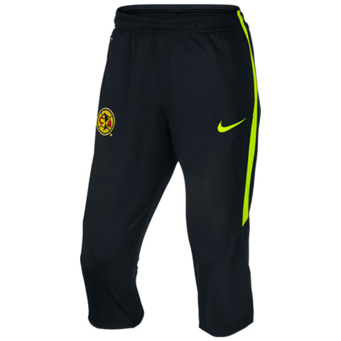 NIKE CLUB AMERICA 3/4 STRIKE TECH TRAINING PANTS Black/Volt