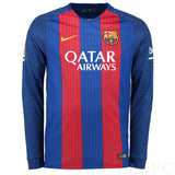 NIKE ANDRES INIESTA FC BARCELONA LONG SLEEVE HOME JERSEY 2016/17 QATAR 2