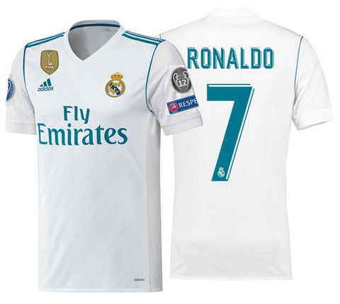 ADIDAS CRISTIANO RONALDO REAL MADRID ADIZERO HOME MATCH CHAMPIONS LEAGUE JERSEY 2017/18.