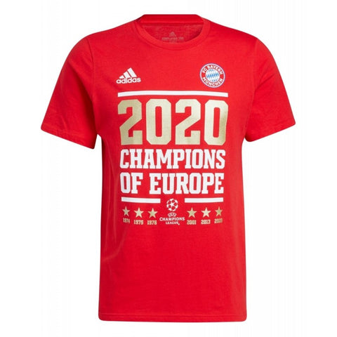 ADIDAS BAYERN MUNICH UEFA CHAMPIONS LEAGUE 2020 WINNERS T-SHIRT 1